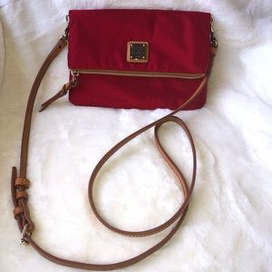 Dooney and Bourke Red Foldover Purse